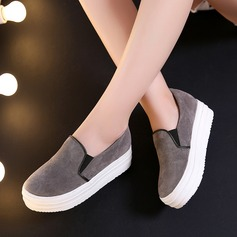 De mujer Ante Tipo de tacón Cerrados Cuñas con Material Block zapatos (086119394)