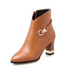 Naisten Keinonahasta Chunky heel Nilkkurit kengät (088092753)